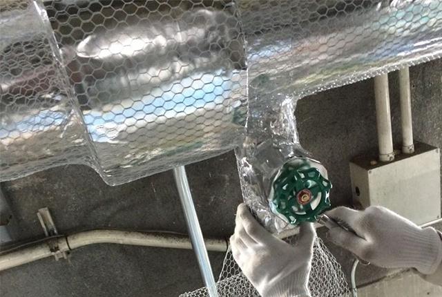 空冷配管工事イメージ